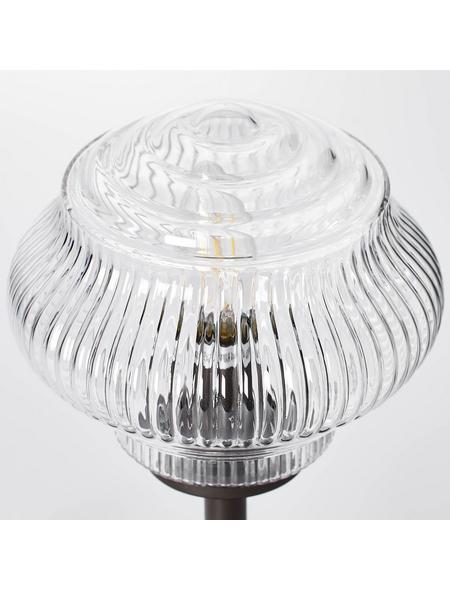 BRILLIANT Tischleuchte transparent/braun mit 25 W, H: 33,50 cm, E14 ohne Leuchtmittel