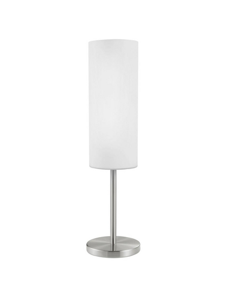 EGLO Tischleuchte »TROY 3« weiß/nickelfarben mit 60 W, Schirm-Ø x H: 10,5 x 46 cm, E27 ohne Leuchtmittel