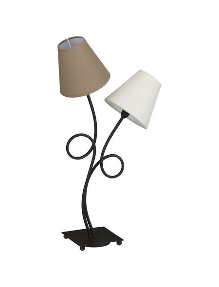 NÄVE Tischleuchte »Vintage« braun mit 40 W, 2-flammig, Schirm-Ø x H: 16 x 65 cm, E14 ohne Leuchtmittel