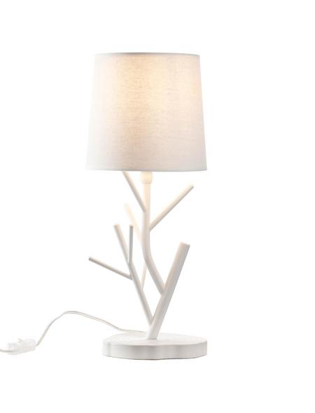 BRILLIANT Tischleuchte Weiß mit 28 W, H: 46,00 cm, E14 ohne Leuchtmittel