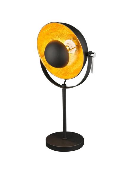 Tischleuchte »XIRENA« schwarz/goldfarben mit 40 W, H: 56,5 cm, E27 ohne Leuchtmittel