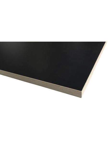 Jürgens Holzprodukte GmbH Tischplatte, anthrazit, Stärke: 25 mm