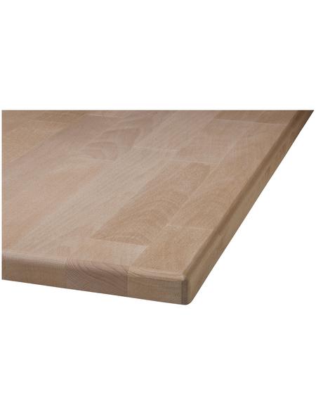Tischplatte, Buchenholz, BxHxL: 80 x 2,7 x 120 cm