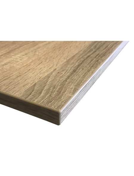 Jürgens Holzprodukte GmbH Tischplatte, eichefarben, Stärke: 27 mm