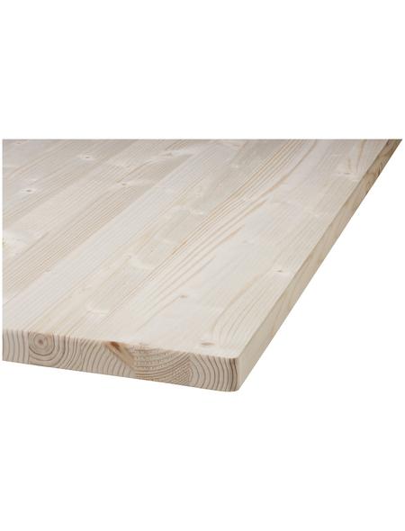 Tischplatte, Fichtenholz, BxHxL: 80 x 2,8 x 180 cm