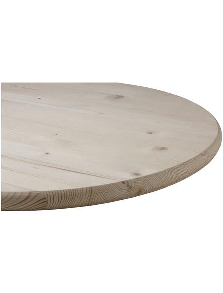 Tischplatte, Fichtenholz, BxHxL: 80 x 2,8 x 80 cm