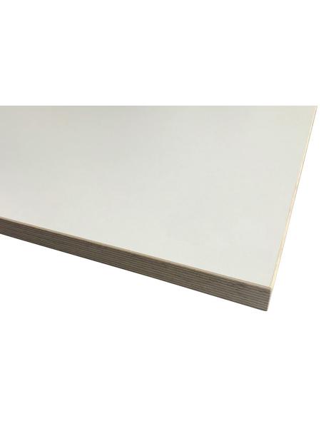 Jürgens Holzprodukte GmbH Tischplatte, weiß, Stärke: 27 mm