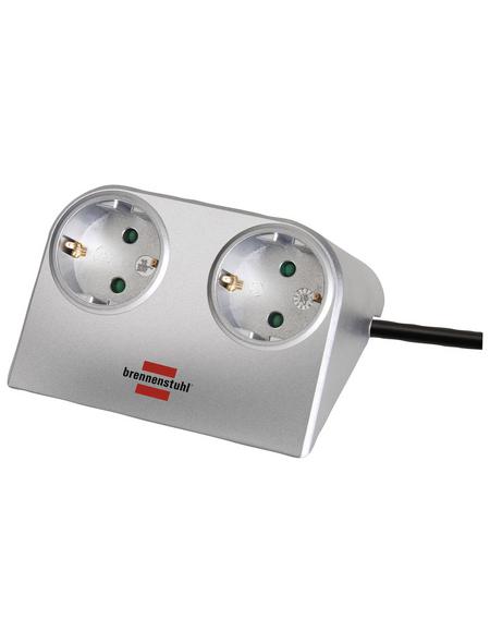 Brennenstuhl® Tischsteckdose »Desktop Power 1153540«, 2-fach, Kabellänge: 1,8 m