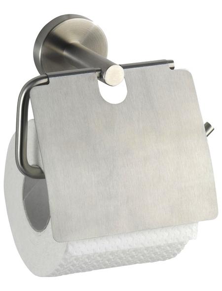 WENKO Toilettenpapierhalter »Bosio«, H x B x T: 13,5 x 15 x  cm, edelstahlfarben