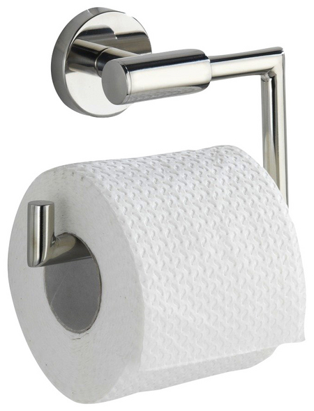 WENKO Toilettenpapierhalter »Bosio Shine«, H x B x T: 10,5 x 15 x 6,5 cm, edelstahlfarben