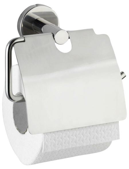 WENKO Toilettenpapierhalter »Bosio Shine«, H x B x T: 13,5 x 15 x 7 cm, edelstahlfarben