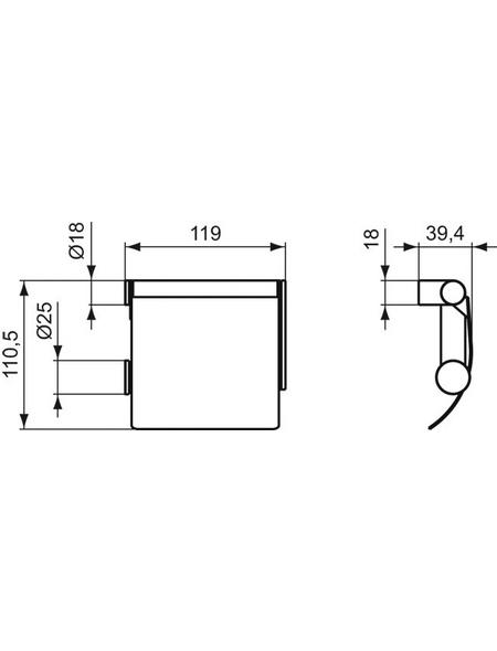 Ideal Standard Toilettenpapierhalter, chromfarben
