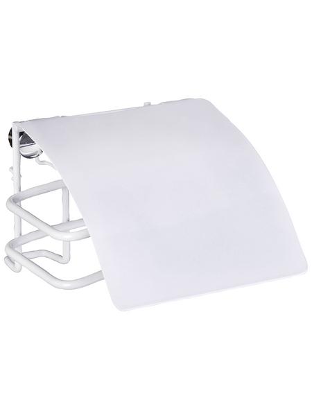 WENKO Toilettenpapierhalter »Classic Plus «, Stahl, weiß