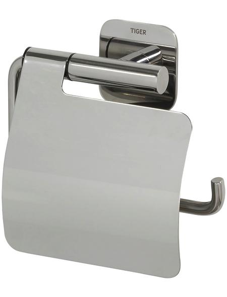 TIGER Toilettenpapierhalter »Colar«, BxHxT: 14,6 x 13,3 x 3,5 cm, edelstahlfarben