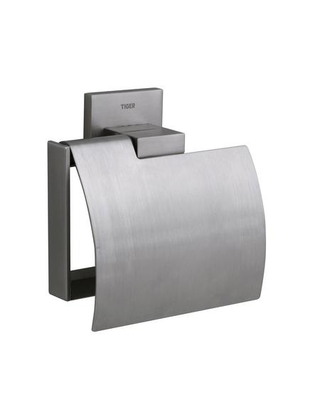 TIGER Toilettenpapierhalter »Items«, BxHxT: 13,1 x 12,8 x 5,3 cm, edelstahlfarben