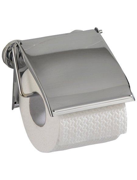 WENKO Toilettenpapierhalter »Power-loc Cover«, Stahl, chromfarben