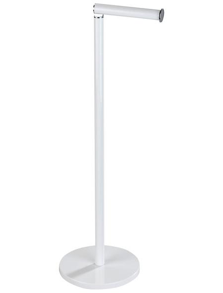 WENKO Toilettenpapierhalter »Stand 2in1«, Stahl, weiß