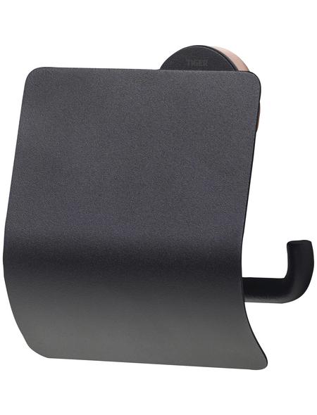 TIGER Toilettenpapierhalter »Urban«, BxHxT: 13,8 x 12,6 x 4,5 cm, schwarz