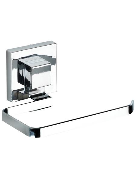 WENKO Toilettenpapierhalter »Vacuum-loc Quadro«, Edelstahl, glänzend, silberfarben