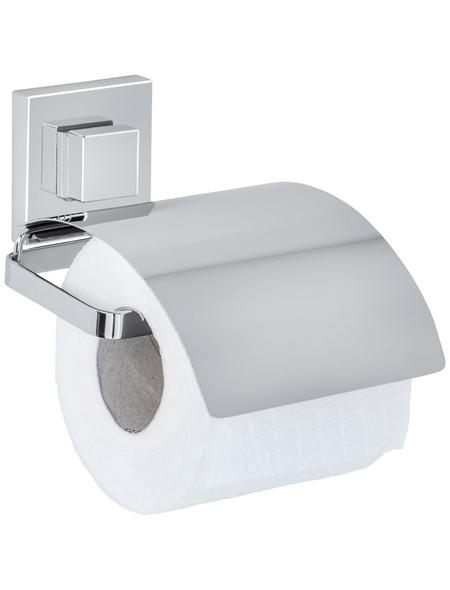WENKO Toilettenpapierhalter »Vacuum-Loc®«, silberfarben