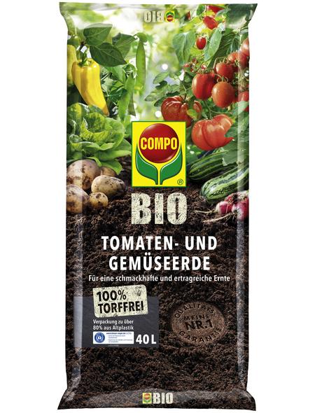 COMPO Tomaten- und Gemüseerde »COMPO BIO«, für Tomaten und Gemüse, torffrei
