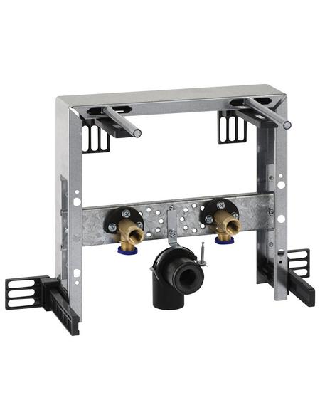 GEBERIT Trageelement »Kombifix«, BxHxT: 350 x 335 x 80 mm, Montagetiefe verstellbar 8 - 19 cm / Traverse für Armatur höhenverstellbar, grau