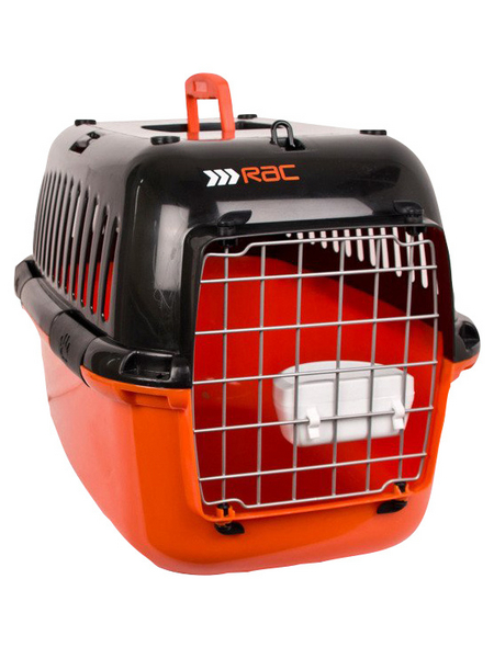 Transportbox, BxHxT: 57 x 38 x 38 cm, schwarz/orange