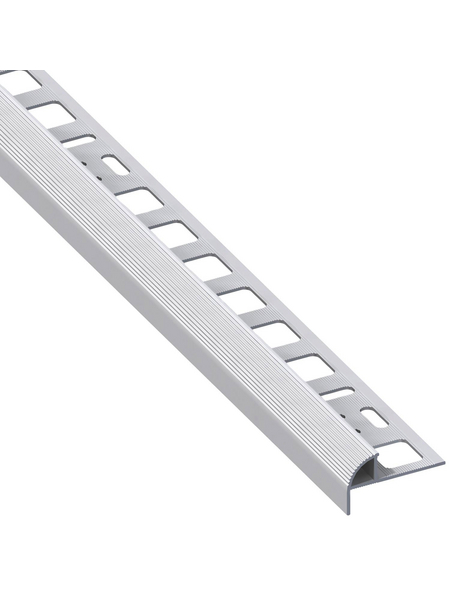 alfer® aluminium Treppenkantenprofil, BxL: 19,5 x 2500 mm, silberfarben