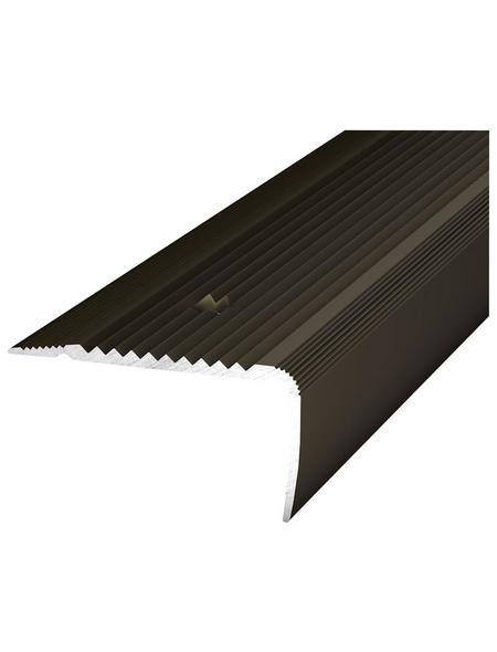 CARL PRINZ Treppenkantenprofil »NOVA«, bronzefarben, BxLxH: 45 x 1000 x 23 mm