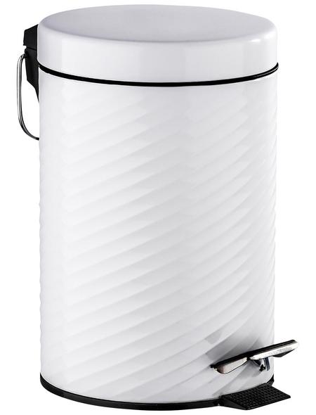 WENKO Treteimer, Höhe: 26 cm, weiß