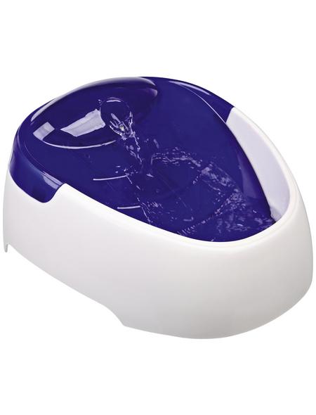 TRIXIE Trinkbrunnen, Kunststoff, Weiß | Blau