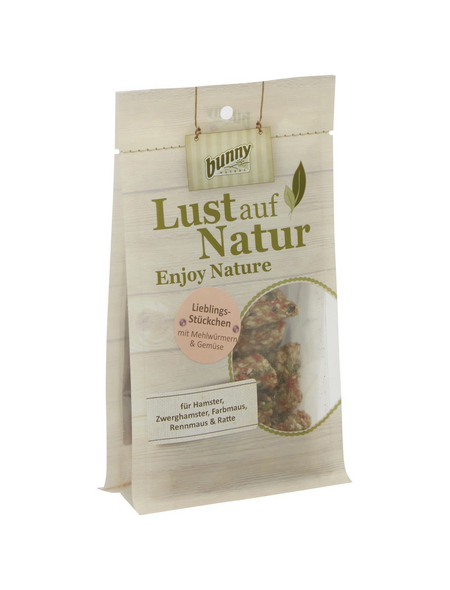 BUNNYNATURE Trockenfutter »Lust auf Natur«, für Nagetiere, Gemüse/Mehlwurm, 75 g