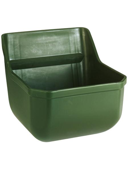 KERBL Trog, für Stall und Hof, aus Kunststoff, dunkelgrün