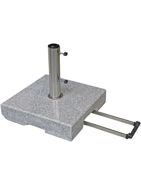 DOPPLER Trolley-Granitsockel, BxHxL: 50 x 11 x 50 cm