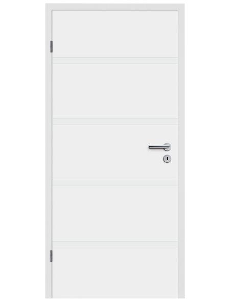 TÜRELEMENTE BORNE Tür »Fila 10 Weißlack«, Anschlag: links, Höhe: 198,5 cm