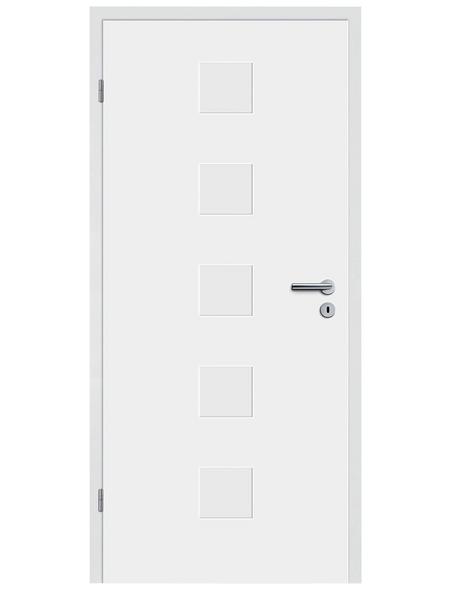 TÜRELEMENTE BORNE Tür »Fila 12 Weißlack«, Anschlag: links, Höhe: 198,5 cm