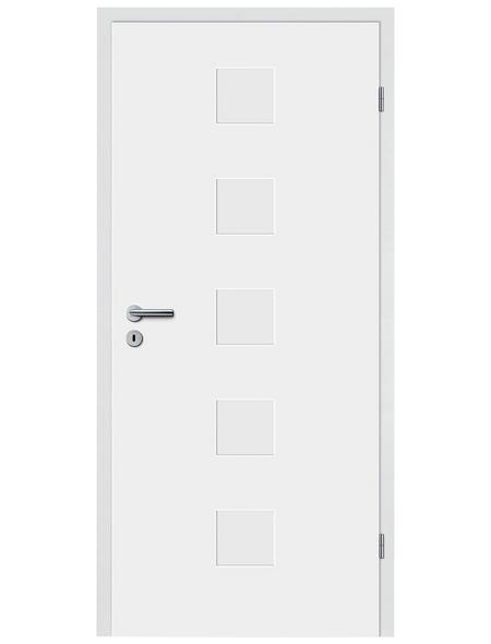 TÜRELEMENTE BORNE Tür »Fila 12 Weißlack«, Anschlag: rechts, Höhe: 198,5 cm