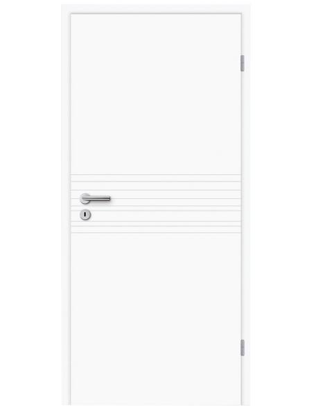 TÜRELEMENTE BORNE Tür »Fila 18 Weißlack«, Anschlag: rechts, Höhe: 198,5 cm