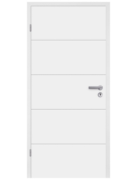 TÜRELEMENTE BORNE Tür »Fila 5 Weißlack«, Anschlag: links, Höhe: 198,5 cm