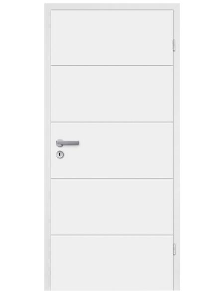 TÜRELEMENTE BORNE Tür »Fila 5 Weißlack«, Anschlag: rechts, Höhe: 198,5 cm