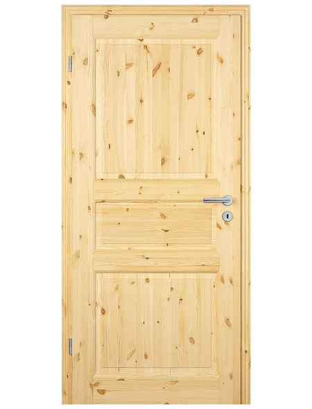 TÜRELEMENTE BORNE Tür »Landhaus 03 Kiefer roh«, Anschlag: links, Höhe: 198,5 cm