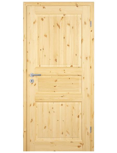 TÜRELEMENTE BORNE Tür »Landhaus 03 Kiefer roh«, Anschlag: rechts, Höhe: 198,5 cm