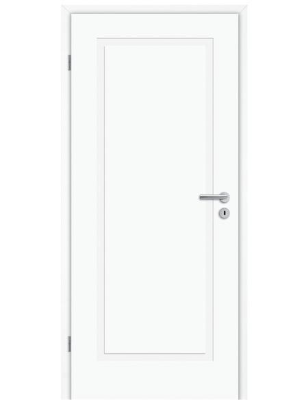 TÜRELEMENTE BORNE Tür »Lusso 01 Weißlack«, Anschlag: links, Höhe: 198,5 cm