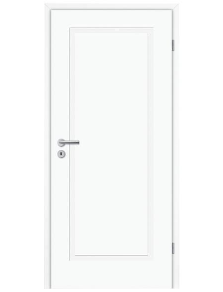 TÜRELEMENTE BORNE Tür »Lusso 01 Weißlack«, Anschlag: rechts, Höhe: 198,5 cm