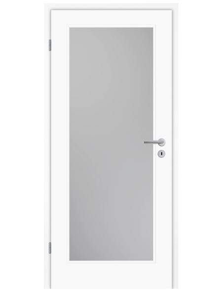 TÜRELEMENTE BORNE Tür »Lusso 01 Weißlack LA«, Anschlag: links, Höhe: 198,5 cm
