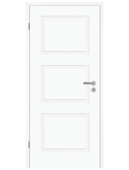 TÜRELEMENTE BORNE Tür »Lusso 03 design-weiß«, Anschlag: links, Höhe: 198,5 cm