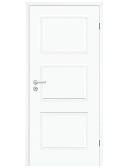 TÜRELEMENTE BORNE Tür »Lusso 03 design-weiß«, Anschlag: rechts, Höhe: 198,5 cm