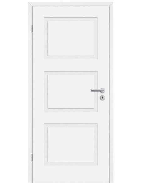 TÜRELEMENTE BORNE Tür »Lusso 03 Weißlack«, Anschlag: links, Höhe: 198,5 cm