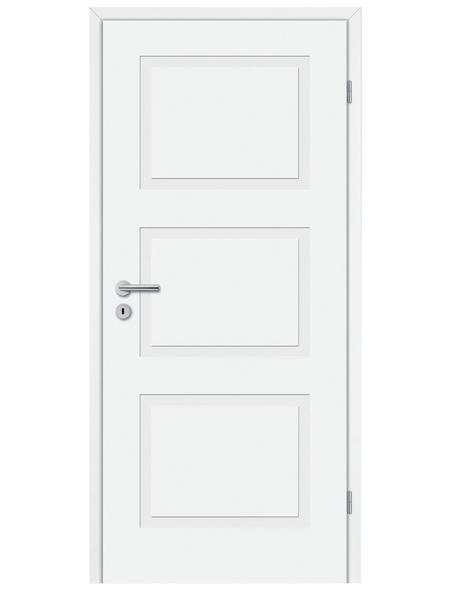 TÜRELEMENTE BORNE Tür »Lusso 03 Weißlack«, Anschlag: rechts, Höhe: 198,5 cm