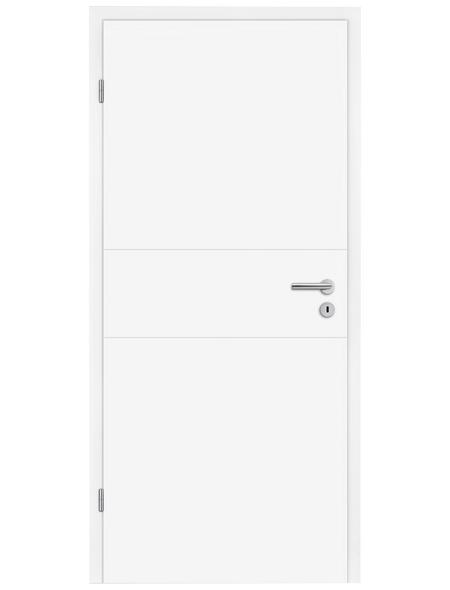 TÜRELEMENTE BORNE Tür »Turida 11 design-weiß«, Anschlag: links, Höhe: 198,5 cm